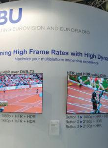 A EBU (União Europeia de Radiodifusão) apresentou no seu estande exemplos de combinação de High Frame Rates com High Dynamic Range, e os resultados saltam aos olhos