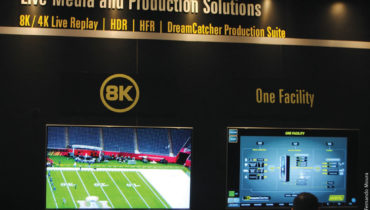 """A Evertz avançou para a apresentação de soluções 8K  com sistema de replay ao vivo em 8K e 4K, HDR e HFR;  análise de Big Data com plataformas de análise de inSITE, relatórios e data mining; além de plataformas com infraestruturas de VOD com """"onboard for Cloud/OTT"""""""