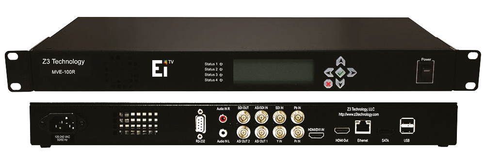 EiTV Dual Channel Encoder, um equipamento capaz de colocar no ar o sinal digital Full HD e 1-Seg